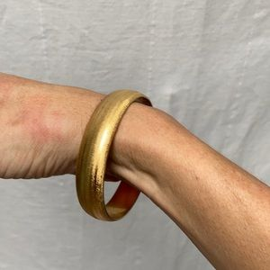 Vintage Gold Monet Thick Bangle